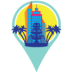 Virtual Resort Pin